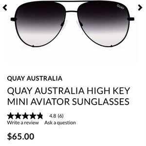Authentic ombré quay glasses nwot